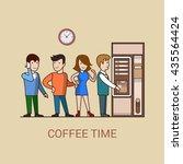 Linear Line Art Business Coffee ...