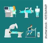 modern treatment robotic robot... | Shutterstock .eps vector #435564469