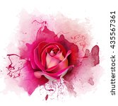 beautiful red rose  smearing... | Shutterstock . vector #435567361