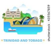 trinidad and tobago country... | Shutterstock .eps vector #435567859