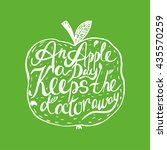 hand drawn vintage motivational ... | Shutterstock .eps vector #435570259