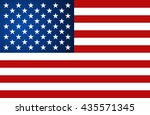 united state of america flag.... | Shutterstock .eps vector #435571345