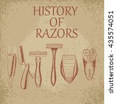 history of razors vector stock... | Shutterstock .eps vector #435574051