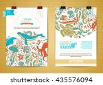 vector set of two marine life... | Shutterstock .eps vector #435576094