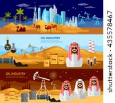 oil production in the arab... | Shutterstock .eps vector #435578467