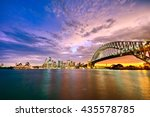 panorama of sydney harbour at... | Shutterstock . vector #435578785