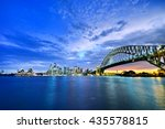 panorama of sydney harbour at... | Shutterstock . vector #435578815
