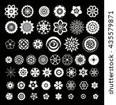 big set of flowers design... | Shutterstock .eps vector #435579871