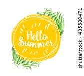 card hello summer organic logo  ... | Shutterstock .eps vector #435580471