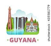 guyana country design template. ... | Shutterstock .eps vector #435581779