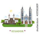 ecuador country design template.... | Shutterstock .eps vector #435581809