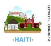 haiti country design template.... | Shutterstock .eps vector #435581869