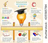 education infographics back to... | Shutterstock .eps vector #435585784