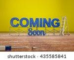 3d rendered image of blue... | Shutterstock . vector #435585841