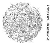 circle vector set of doodles...