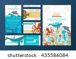corporate underwater wild life... | Shutterstock .eps vector #435586084