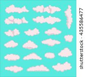 clouds. cloud icon vector.... | Shutterstock .eps vector #435586477