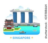 singapore country design... | Shutterstock .eps vector #435588664