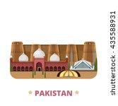 pakistan country design... | Shutterstock .eps vector #435588931