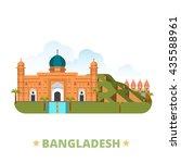 bangladesh country design... | Shutterstock .eps vector #435588961