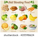 set of cartoon food icons. anti ... | Shutterstock .eps vector #435598624