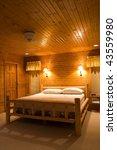 inside a bedroom in cabin made... | Shutterstock . vector #43559980