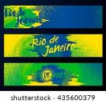 rio de janeiro  horizontal... | Shutterstock .eps vector #435600379