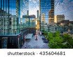 modern buildings along... | Shutterstock . vector #435604681
