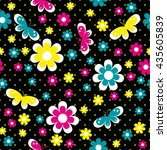 bright childish seamless...   Shutterstock .eps vector #435605839