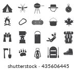 camping icon collection. hiking ... | Shutterstock .eps vector #435606445