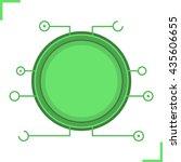 digital microchip frame. green...
