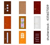 room doors icons detailed photo ... | Shutterstock .eps vector #435607009