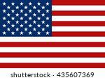 united state of america flag.... | Shutterstock .eps vector #435607369