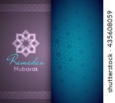ramadan mubarak greeting card... | Shutterstock .eps vector #435608059