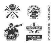 retro weapons  shooting logos | Shutterstock . vector #435608524