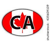 sticker on car  flag canada...