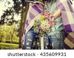 colorful flowers bouquet on... | Shutterstock . vector #435609931