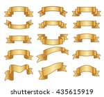gold ribbons | Shutterstock . vector #435615919