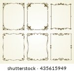 vintage calligraphic frames set | Shutterstock . vector #435615949