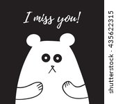 I Miss You Lettering  Card Wit...