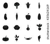 vegetables icons set | Shutterstock . vector #435624169