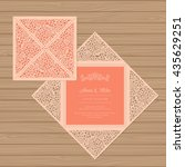 wedding invitation or greeting... | Shutterstock .eps vector #435629251