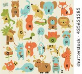 Zoo Alphabet With Cute Animals...