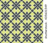 seamless pattern with tribal... | Shutterstock .eps vector #435631549