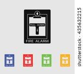 fire alarm icon | Shutterstock .eps vector #435632215