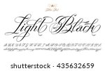 hand drawn vector calligraphy... | Shutterstock .eps vector #435632659