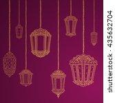 ramadan kareem theme. vector... | Shutterstock .eps vector #435632704