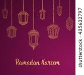ramadan kareem theme. vector... | Shutterstock .eps vector #435632797