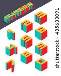 collection of the isometric... | Shutterstock .eps vector #435633091