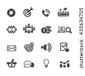 marketing icon set  vector | Shutterstock .eps vector #435634705